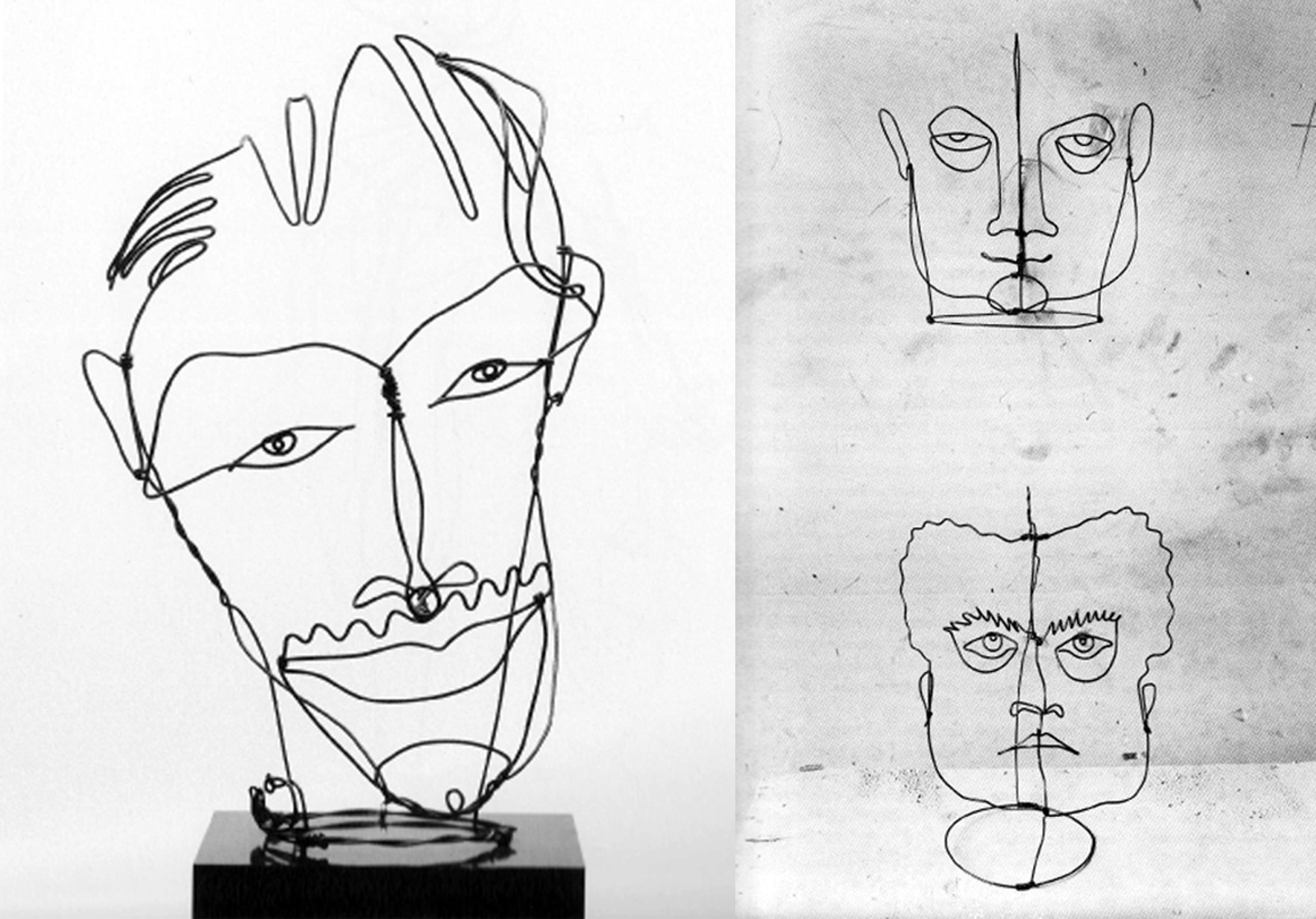 Calder wire portraits mryo contour drawing is an artistic technique used in the field of art in which the artist sketches the contour of a subject by drawing lines that result in a solutioingenieria Gallery