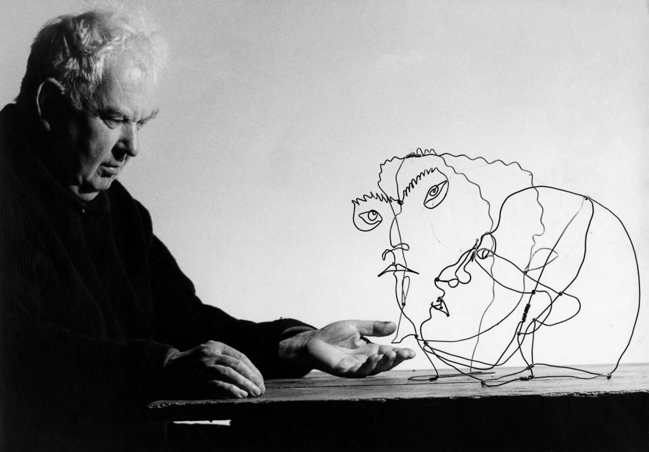 Calder Wire Portraits   Mr.Deyo