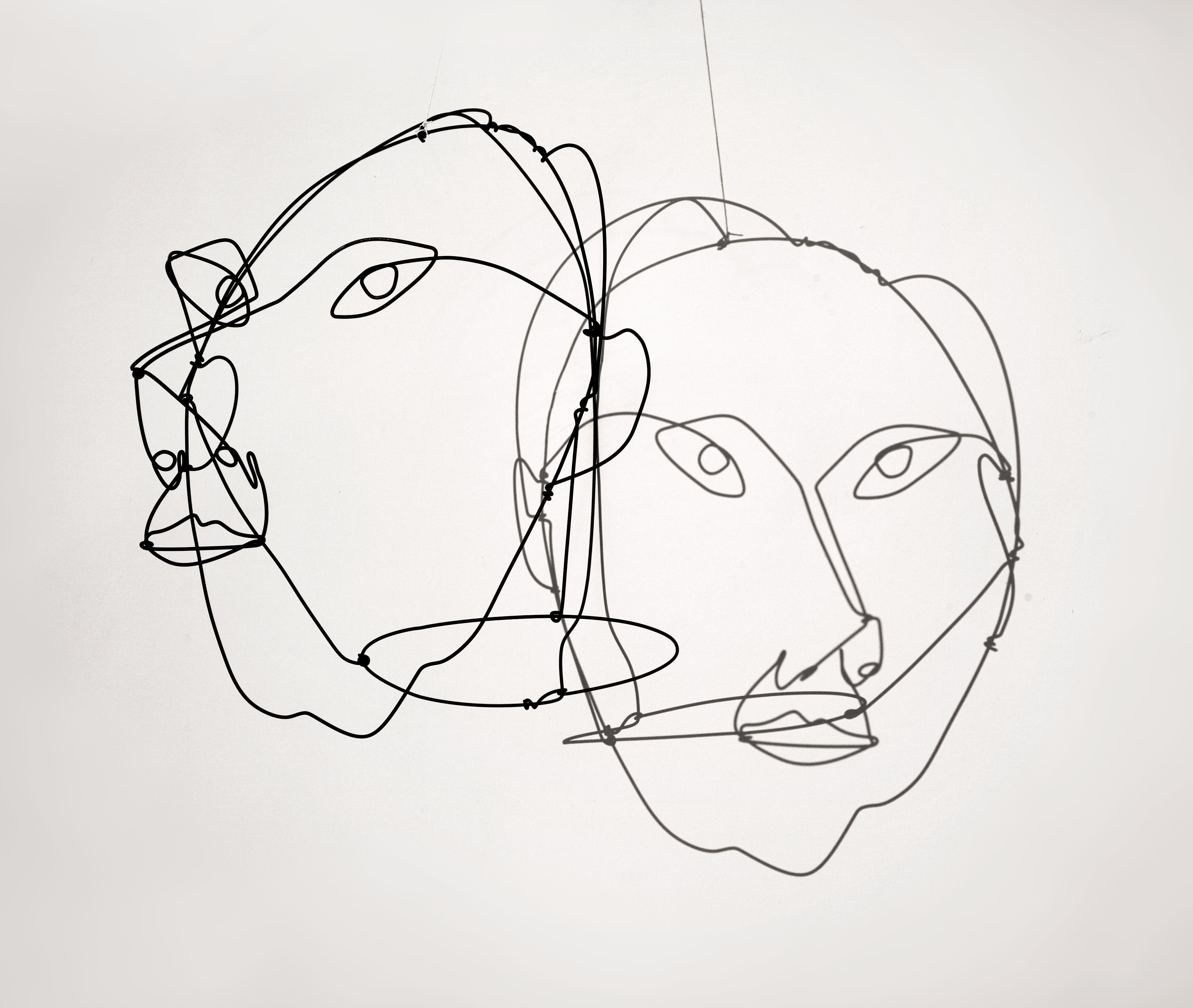 Contour Line Drawing With Wire : Calder wire portraits mr yo