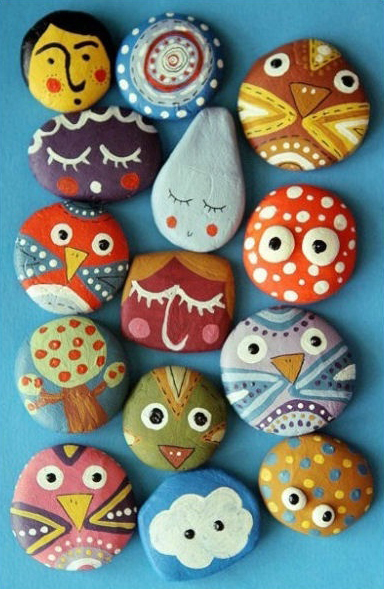 Painting Glass Stones
